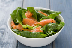 Salad with smoked fish Royalty Free Stock Photography