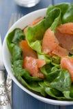 Salad with smoked fish Stock Photo