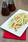 Salad With Smoked Salmon Royalty Free Stock Images