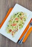 Salad With Smoked Salmon Royalty Free Stock Photo