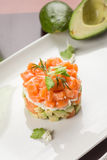 Salad with smoked salmon and avocado Royalty Free Stock Photo