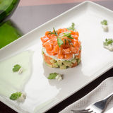 Salad with smoked salmon and avocado Stock Photography