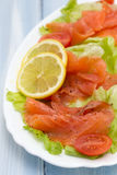 Salad with smoked salmon Stock Photo