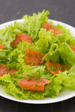Salad with smoked salmon Stock Photography