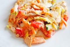 Salad of smoked salmon Stock Images