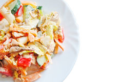 Salad of smoked salmon Royalty Free Stock Images