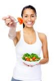 Salad snack woman Stock Photography