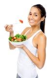 Salad snack woman Stock Photo