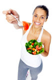 Salad snack woman Royalty Free Stock Image