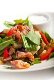 Salad. With Sorrel, Mushrooms and Baked Potatoes Stock Image