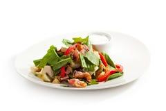 Salad. With Sorrel, Mushrooms and Baked Potatoes Stock Photos