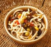 Salad of spaghetti Royalty Free Stock Photos