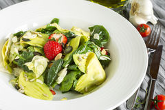 Salad Spinach Avocado Strawberry Royalty Free Stock Photography