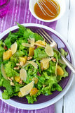 Salad with spinach, oranges and nuts Stock Photography