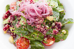 Salad Spinach Quinoa Cherry Tomatoe Royalty Free Stock Images