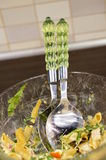 Salad spoons Royalty Free Stock Image