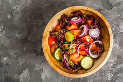 Salad of spring vegetables and lettuce Stock Photography