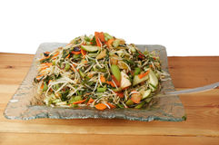 Salad with sprouted wheat. Royalty Free Stock Photography