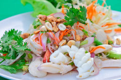 Salad of squid and groundnut Stock Image