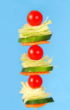 Salad on a stick Royalty Free Stock Photos