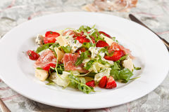 Salad with strawberries Stock Images