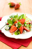 Salad with strawberries and gorgonzola Royalty Free Stock Photo