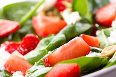 Salad with strawberry Royalty Free Stock Photography