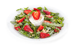 Salad with strawberry. Arugula and cheese Stock Image
