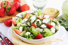 Salad with strawberry and cheese Royalty Free Stock Photo