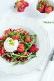 Salad with strawberry Royalty Free Stock Image