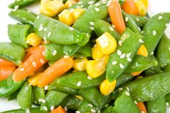 Salad with a string bean Royalty Free Stock Photography