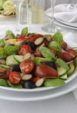 Salad of summer vegetables Stock Photo