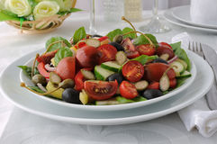 Salad of summer vegetables Royalty Free Stock Photography