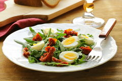 Salad with sun dried tomato Royalty Free Stock Photo