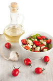 Salad and sunflower oil Royalty Free Stock Image