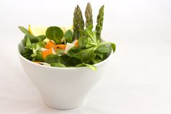 Salad with surimi Royalty Free Stock Images