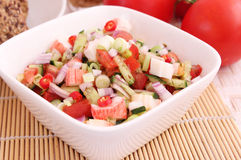 Salad of Surimi Royalty Free Stock Photos
