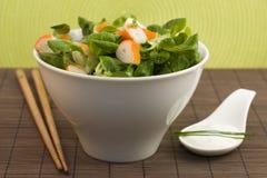 Salad surimi and tzatziki Stock Photo