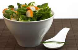 Salad surimi and tzatziki Royalty Free Stock Images