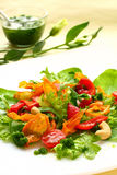 Salad with sweet potato ,pepper and tomato Stock Image