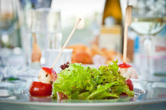 Salad on a table Stock Photography