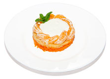 Salad with tangerine Stock Image