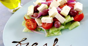 Salad with text in plate stock video