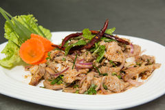 Salad is thai food that savor sour and spicy. Stock Photography