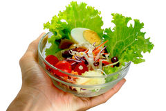 Salad 01. Thai style salad with egg, tomato, and mayonnaise Royalty Free Stock Image