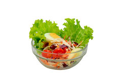 Salad 02. Thai style salad with egg, tomato, and mayonnaise Stock Photography