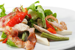 Salad with Thin Meat and Vegetable Royalty Free Stock Image