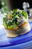 Salad toast Stock Photography
