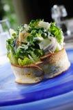 Salad toast stock photography