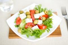 Salad with tofu. Simple vegetable salad with tofu Royalty Free Stock Photo